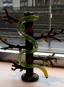 Snake In A Tree: child's drawing turned into sculpture.